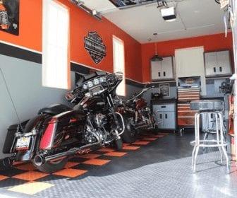 Harley-Davidson man cave