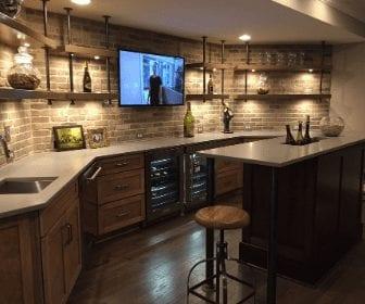 man cave kitchen